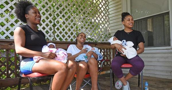 Ca sinh hy hữu: 3 chị em ruột cùng sinh con vào một ngày