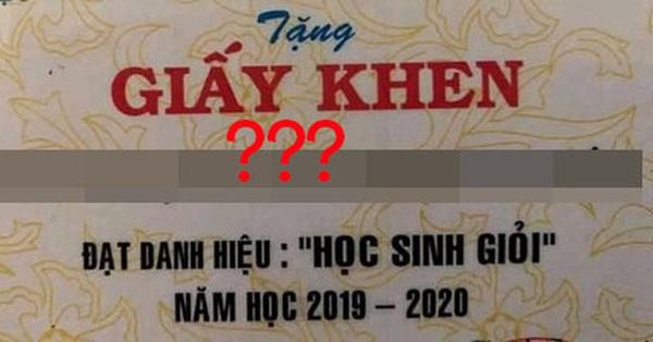 Tấm giấy khen gây sốt MXH vì cái tên quá đặc biệt: Dài tận 6 chữ, đọc xong bỗng thấy