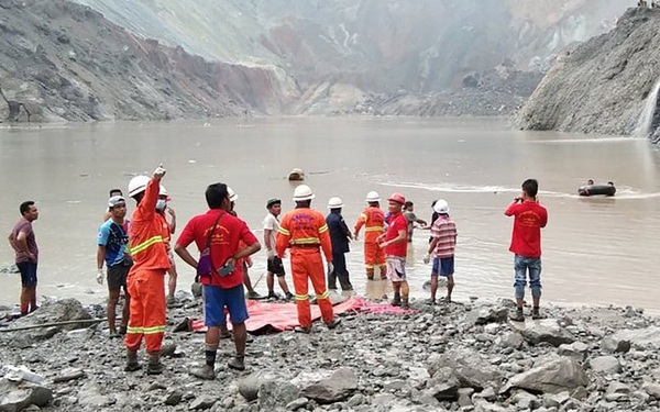 Sạt lở mỏ đá quý tại Myanmar, hơn 100 người thiệt mạng