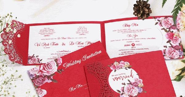 Tiết kiệm chi phí tối đa với 8 mẫu thiệp cưới giá dưới 3.000 đồng dành cho các cặp uyên ương