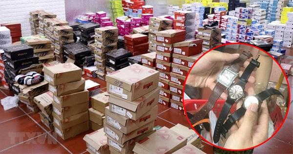 Ảnh, clip bên trong tổng kho hàng lậu 10.000 mét vuông của 9x Lào Cai: Hàng nghìn sản phẩm ''nhái'' Gucci, Louis Vuitton, Adidas..., doanh thu mỗi tháng chục tỷ