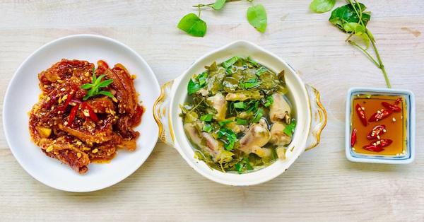 Mâm cơm 2 món nấu nhanh mà ngon miệng lại còn giúp da đẹp, chống lão hóa thì phải nấu ngay thôi!