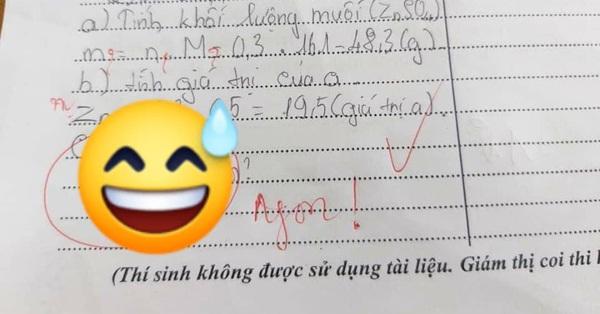 Nam sinh viết 1 câu trong đáp án bài kiểm tra mà khiến thầy giáo phê duy nhất 1 từ