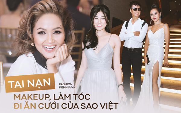 Chẳng riêng người thường, sao Việt cũng đầy lần mắc lỗi làm đẹp khi đi ăn cưới: Cô bới tóc quá khổ, cô makeup gây giật mình