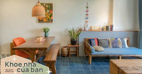 Căn hộ 70m² đẹp tinh tế với vật liệu truyền thống để chuẩn bị đón Tết ở Sài Gòn