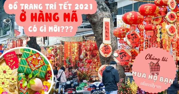 Dạo 1 vòng phố Hàng Mã mua đồ trang trí Tết Tân Sửu: Đồ truyền thống