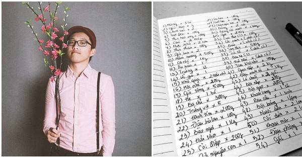 Chàng trai Việt gây choáng vì lên danh sách sắm đồ Tết ở nước ngoài