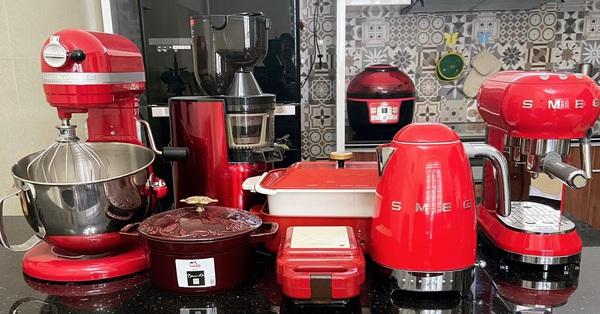 Căn bếp rộng thoáng, hiện đại với đủ đồ nấu nướng tiện dụng sau khi cải tạo ở Hải Phòng