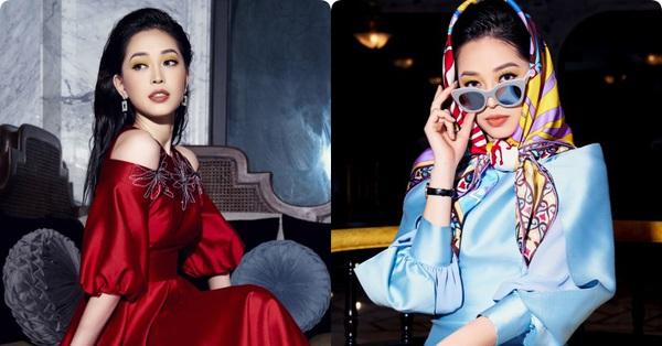 Vắng bóng người thương, Á hậu Phương Nga vẫn xinh đẹp kiều diễm khoe sắc trong những thiết kế váy áo đón xuân