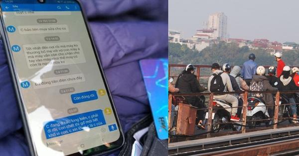 Hà Nội: Nam thanh niên nhắn tin cho mẹ