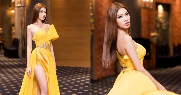 Sau thông tin đại diện VN thi Miss Grand International 2020, Á hậu Ngọc Thảo xuất hiện nóng bỏng tại sự kiện, choáng nhất là độ xẻ của chiếc váy