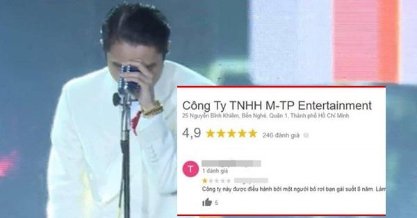 """Cư dân mạng ào vào comment xấu và đánh giá 1 sao công ty giải trí của Sơn Tùng M-TP sau vụ ồn ào """"trà xanh"""""""