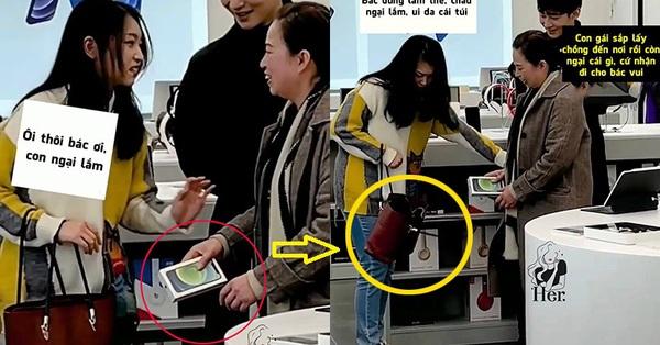 Được mẹ chồng tương lai hào phóng tặng điện thoại xịn sò, cô gái từ chối đây đẩy, nhưng chiếc túi