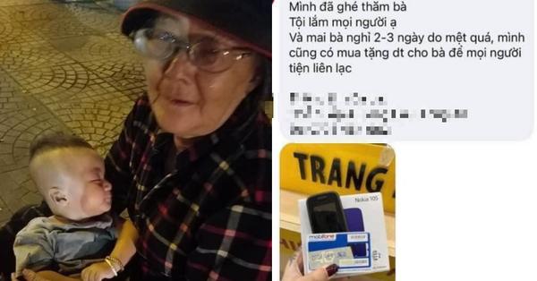 Xúc động câu chuyện về bà cụ bế cháu trai 6 tháng tuổi đi bán khăn giấy giữa cái lạnh của Sài Gòn, dân mạng thay nhau