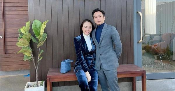 Đàm Thu Trang tung ảnh hai vợ chồng