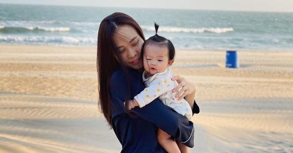 Bị chồng đăng ảnh vô tình lộ mặt mộc với nhiều khuyết điểm, Đàm Thu Trang khéo léo
