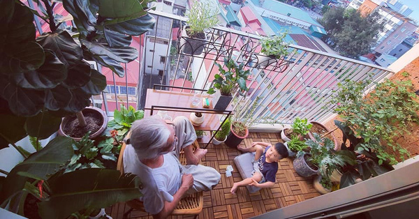 """Ban công 3m² """"biến hình"""" thành khu vườn rực rỡ chỉ trong 1 tuần nhờ """"gu"""" cực chất của người phụ nữ Hà Nội"""