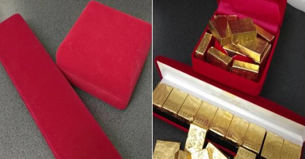 Được chồng tặng cả chục thỏi vàng đựng trong hộp sang chảnh, người phụ nữ hý hửng mở ra thì phát hiện sự thật
