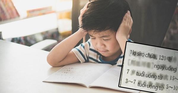 Bài toán tính liều lượng một lọ siro ho của trẻ lớp 4: Trò trả lời