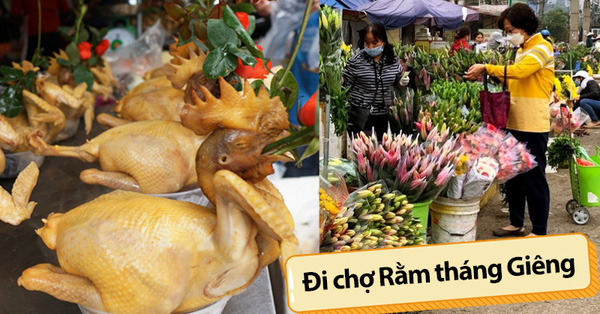 """Hoa tươi cúng Rằm tháng Giêng """"rẻ chưa từng thấy"""", gà cúng và các thực phẩm khác tại chợ dân sinh ít biến động"""