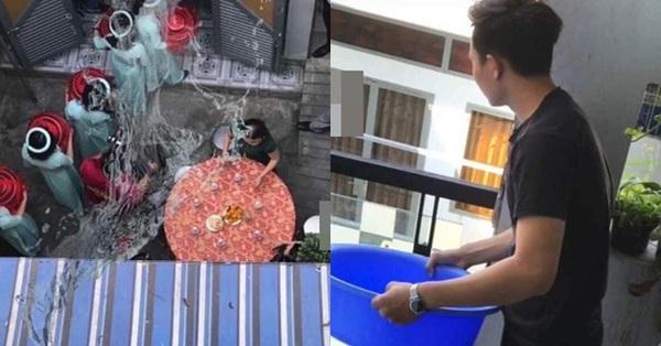 Xôn xao hình ảnh thanh niên đổ nguyên chậu nước vào dàn phụ dâu của hàng xóm đang bưng quả khiến dân mạng phẫn nộ