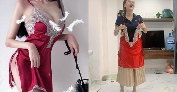 """Mua váy ngủ gợi cảm, cô gái không ngờ shop lại chuyển nhầm """"size tạp dề"""", hình ảnh sau khi mặc không khác gì pha tấu hài chuyên nghiệp"""