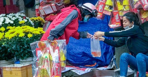 23 Chạp tiễn ông Công ông Táo về trời: Nhộn nhịp không khí người Hà Nội mua sắm Tết