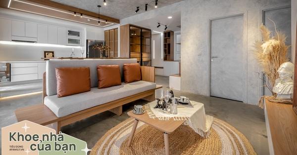 Căn hộ 106m² đẹp cá tính với hiệu ứng bê tông cùng phong cách tối giản có chi phí hoàn thiện 950 triệu đồng ở Sài Gòn