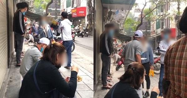 Xôn xao clip người đàn ông ngồi ăn trước cửa hàng của một nhóm thanh niên, khi được yêu cầu rời đi thì lại lớn tiếng đầy phẫn nộ!?