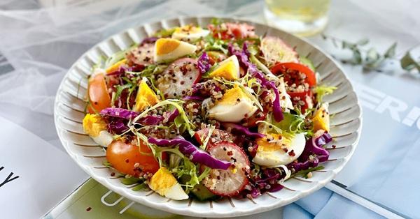 Bí quyết giảm gánh nặng cho dạ dày bằng món salad cực