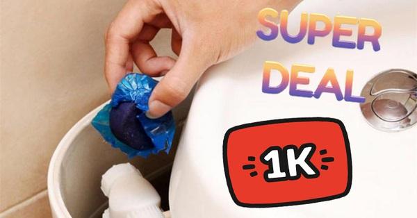 Nhà vệ sinh sẽ thơm tho cả ngày với các sản phẩm hỗ trợ làm sạch đang được sale