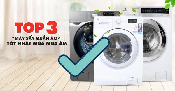 Mùa nồm ẩm đã đến và đây là 3 máy sấy quần áo có giá bán dưới 15 triệu cho bạn tham khảo