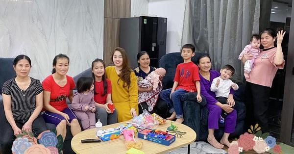 Hằng Túi khoe ảnh Tết đoàn viên với 6 bé cưng của mình, nhưng hình ảnh 5 bà giúp việc tươi cười mới là chi tiết đáng chú ý