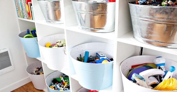 Áp dụng những giải pháp lưu trữ thông minh dưới đây đảm bảo mẹ không cần lo đồ chơi của con bừa bãi