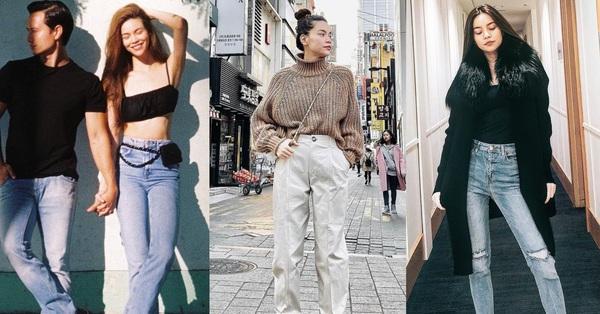 Dáng chuẩn người mẫu, cân được muôn kiểu quần dài nhưng