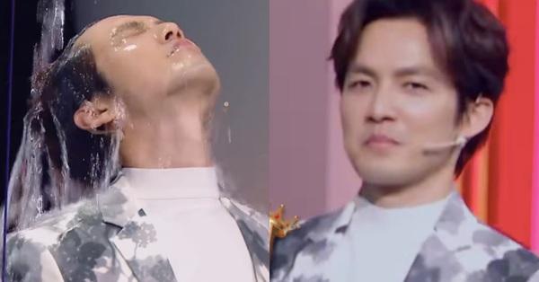 Chung Hán Lương mặc nguyên cây đồ hiệu Fendi đi show thực tế, cuối cùng bị cả chậu nước đổ vào đầu