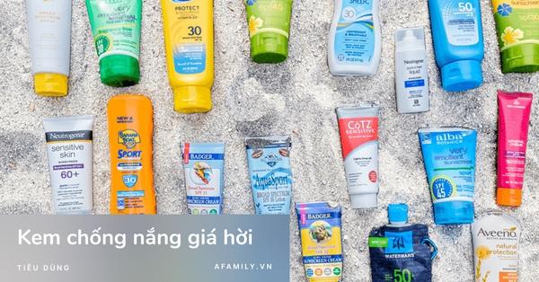 5 sản phẩm kem chống nắng đang được giảm giá hời trên Shopee