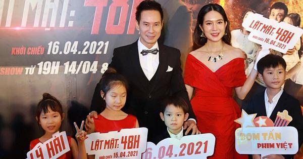 Đại gia đình Lý Hải - Minh Hà rồng rắn trên thảm đỏ