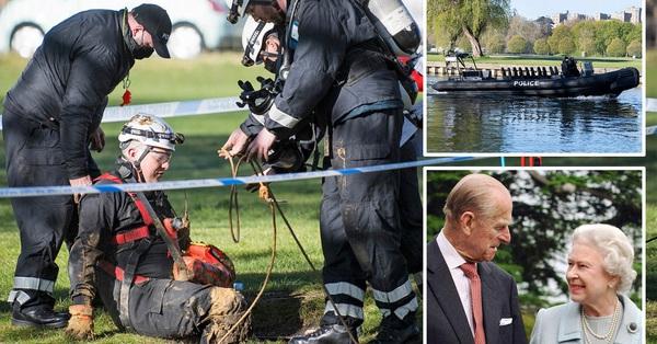 Công tác chuẩn bị cho tang lễ Hoàng tế Philip đang vô cùng khẩn trương: Cảnh sát an ninh chui hẳn xuống cống để đảm bảo không có sự cố bất ngờ xảy ra