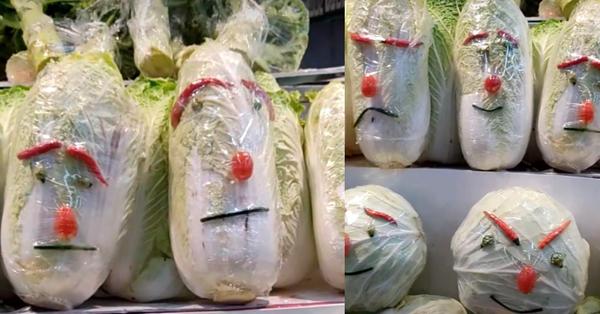 Đi làm ở siêu thị nhưng có tố chất hài hước, các nhân viên biến quầy rau rủ thành một góc