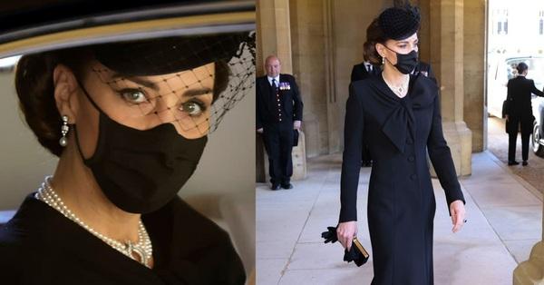 Xem trang phục của Kate Middleton trong tang lễ Hoàng tế Philip, để thấy cô được lòng Nữ hoàng Anh như thế nào