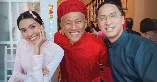 Tăng Thanh Hà diện áo dài truyền thống đi cưới, hình ảnh gợi nhớ đến thời