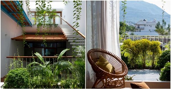 Nhà phố hướng Tây vẫn mát mẻ không cần điều hòa nhờ thiết kế gần gũi với thiên nhiên ở Nha Trang