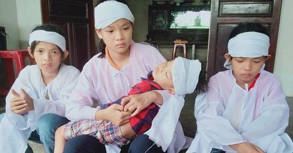 Vụ vợ chết, chồng bị thương vì bị xe tải tông khi đang dừng đèn đỏ: Tiếng khóc xé lòng đòi mẹ của 4 đứa trẻ thơ