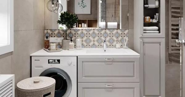 2 gợi ý hoàn hảo để đặt máy giặt trong không gian nhà tắm chỉ rộng vỏn vẹn 5m²