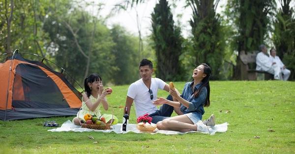 Nghỉ lễ 30/4: Gia đình 3 người đi camping trong ngày tại Hà Nội với tổng chi phí 1 triệu đồng