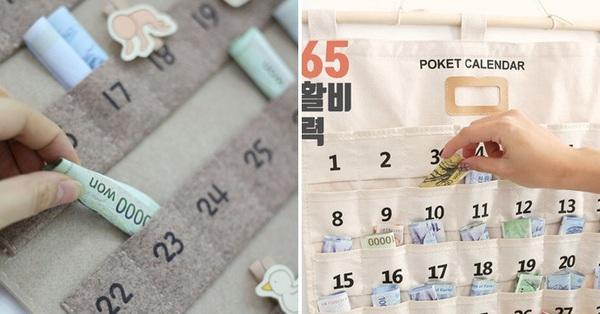 Phụ nữ Hàn Quốc thích dùng lịch tiết kiệm, vừa xinh xắn lại còn giúp bạn dành dụm được số tiền đáng kể