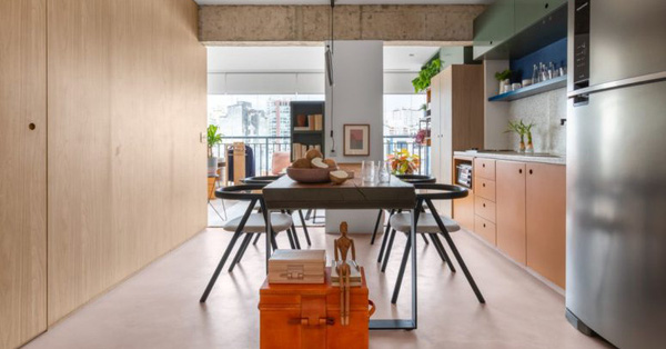 Căn hộ 45m² tạo bất ngờ với thiết kế không tường ngăn cách