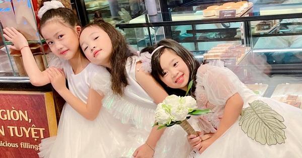Con gái cố diễn viên Mai Phương xinh xắn như công chúa nhỏ xuất hiện vui vẻ bên các con của Ốc Thanh Vân