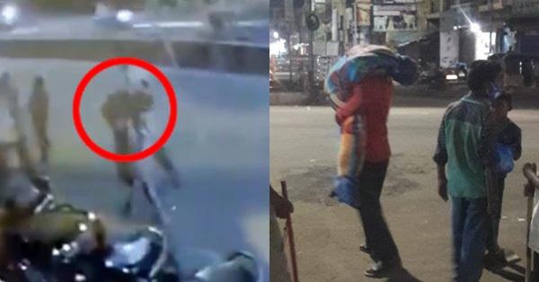 Hình ảnh gây sốc ở Ấn Độ: Người phụ nữ gục chết tại ga tàu vì Covid-19, chồng vác xác vợ chết trên vai tìm đến nơi hỏa táng
